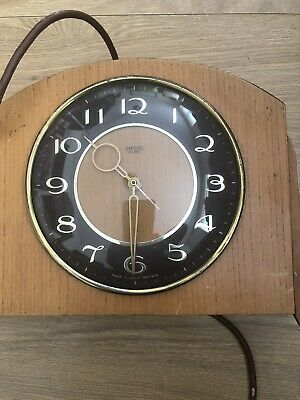 Vintage Wooden Smith Sectric Eletric Mantle Clock No Plug Untested