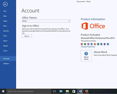 Microsoft Office Professional 2013 Full Version License Key and Download Link