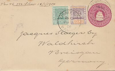 British Guiana 1900 letter to Waldkirch/Germany