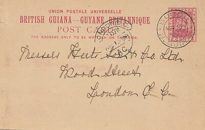 British Guinea: 1898 post dcard Suddie to London