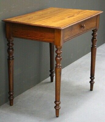Antique French Louis Desk provincial solid heart wood pine writing table 1845