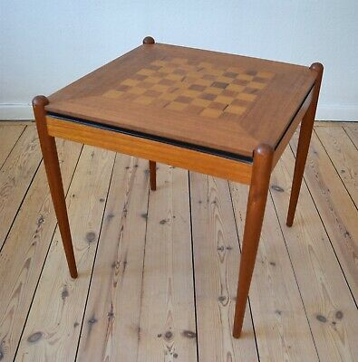 Danish Mid-Century Teak Gaming Table, 1960's.