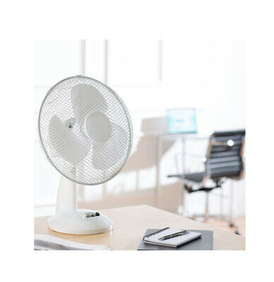 30.5cm Silencieux à Poser Oscillant Ventilateur Portable Bureau Table Air