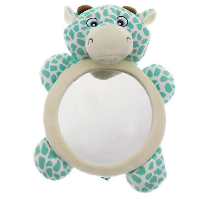 Plush Cow Baby Kid View Mirror For Rear Facing Car Seat Safety Auto Infant