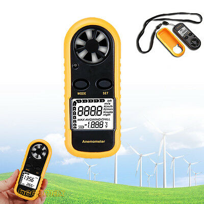 CE Approved Digital Handheld Anemometer Wind Speed Meter ThemometerSailing LCD S