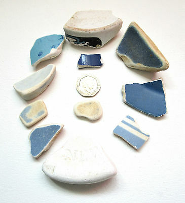 Vintage Sea Pottery - Ceramic - Collage - Pottery Shards