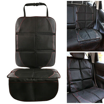 Black Safety Mat Cushion Cover Waterproof Car Seat Protector Non-Slip Child US