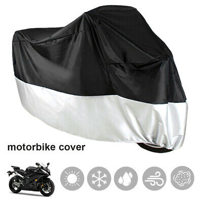 Motorcycle Motorbike Waterproof Outdoor Rain Snow Dust Dirt Cover Protector XXXL