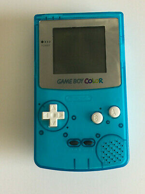 Nintendo Game Boy Colour Front Light and Custom Painted Blue Shell