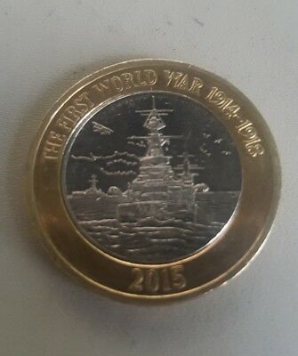 2015 Royal Navy HMS Belfast First World War £2 Coin '5th PORTRAIT'