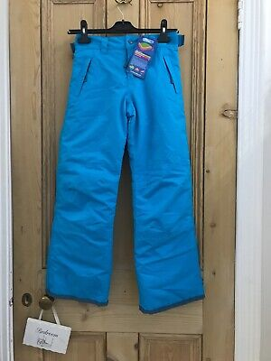 Muddy Puddles Kids Unisex Boys Girls Ocean  Blue  Ski Trousers 9-10 Years BNWT