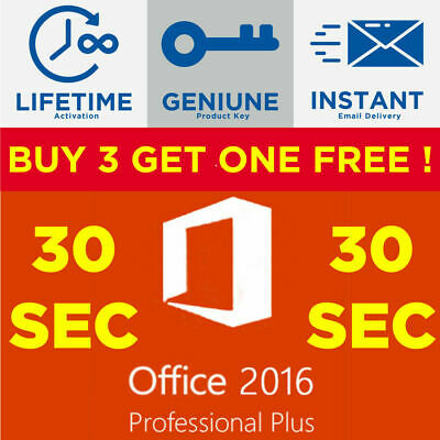 ✅ INSTANT Microsoft Office 2016 Professional Plus ✅ NEW Lifetime Activation Key