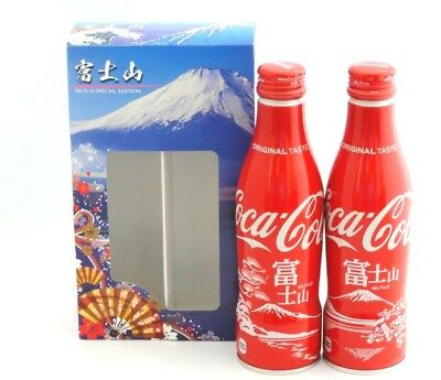 F//S Coca Cola Japan Tokugawa Limited  Empty Slim Bottle Set of 3 With Box