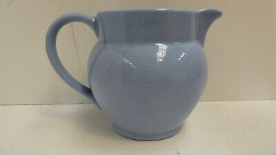 English Blue Ceramic Art Deco Pottery  Milk Jug