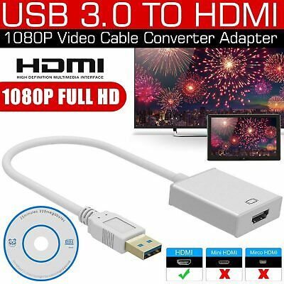 1080P USB 3.0 to HDMI HD Converter Cable Display Graphic Adapter For PC Laptop