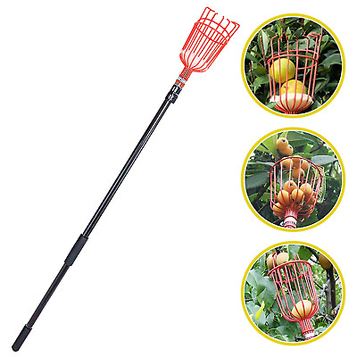 Voilamart Fruit Picker 13 Foot Lightweight Fruit Catcher Telescopic Aluminum for