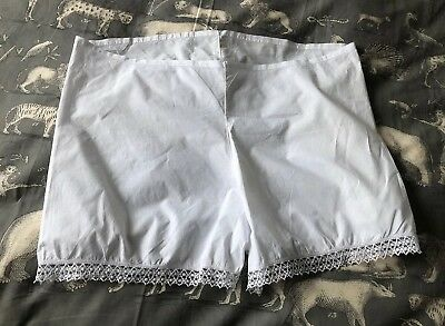 Vintage White Cotton French Big Knickers Pants Handmade