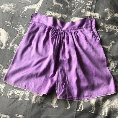 Vintage French Purple Handmade 1920s Knickers Unusual