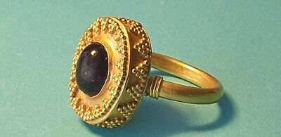 ancient Greek stunning high purity gold ring with cabochon 8.13 grams