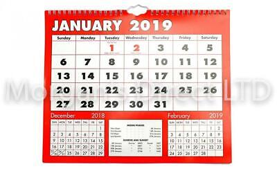 Grand Calendrier Mural Pour Planning.2019 Calendrier Mural A Suspendre Planning Grande Boldtype
