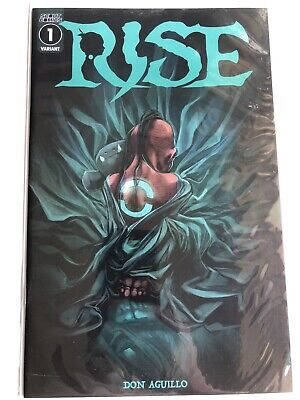RISE #1 DON AGUILLO 1:10 VARIANT COVER SCOUT COMICS HIGH GRADE.