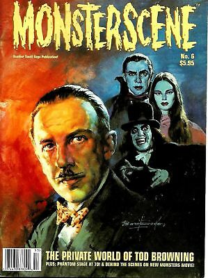 Monsterscene Magazine #6 Tod Browning Ex Condition