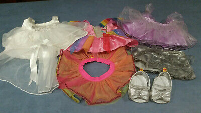 Build a Bear Plush Clothes Bride Dress Shoes Veil Skirt Dress Outfits Fairy