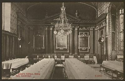 Cambridge. University. Queen's College Dining Hall - Vintage Printed Postcard