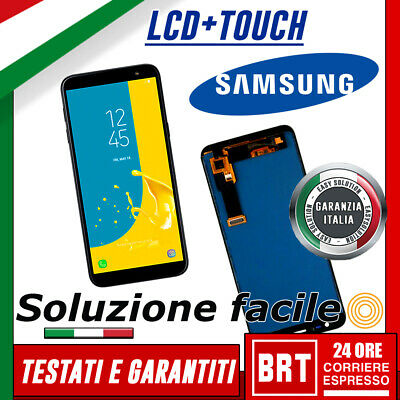 LCD+Touch Screen Samsung Galaxy J6 2018 J600DS J600FN J600G schermo Vetro_24H