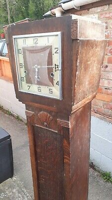 Grandmother clock with beautiful chime wooden vintage