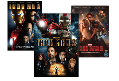 Iron Man 1, 2, and 3 DVD (Complete Trilogy)  Brand New!   Free Shipping!