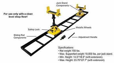 Tractor Splitting Stand with rails & 2 Stands 10,000 lbs