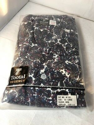 Vintage Tootal Regency Mens Brushed Cotton Paisley Pyjamas Rare Unworn XL