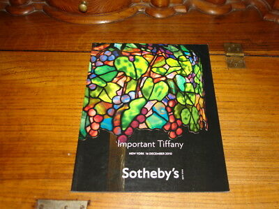 Sotheby's Catalogue-Important Tiffany,New York 16 December 2010