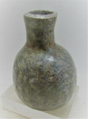 Circa 300-500Ad Late Roman Period Near Eastern Glass Cosmetic Bottle