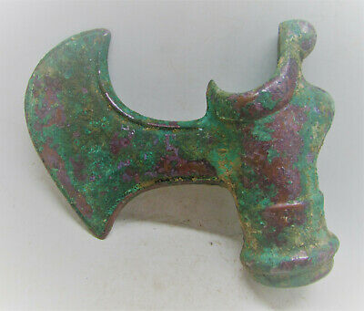 Extremely Rare Authentic Elamite Bronze Axe Head Battle Object 1500-1000Bce