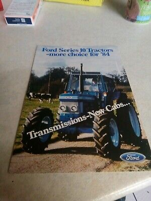 ford series 10 tractors  sales brochure 4 pages