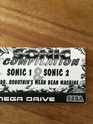 sega mega drive sonic compilation manual (no game)