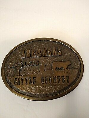 Vintage Brass James Lind 1973 Limited Edition Arkansas 1836 Cattle Country