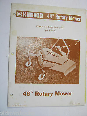 KING KUTTER ROTARY Mower Owner's Operator's Parts Manual 2
