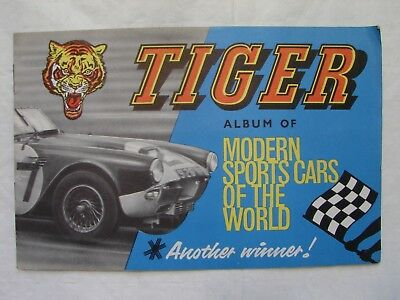 Tiger Album of Modern Sports Cars Of The World - Picture Cards - part complete