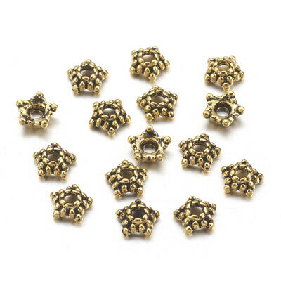 200pcs 7//9mm Charm Flower Petal Bead Caps Bulk End Spacer For DIY Jewelry Making