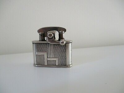 Solid silver  Colibri kickstart lighter. Art deco