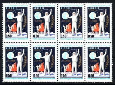 Algeria Lot Of 8 Minth ** Stamps 1969 The First Man On The Moon