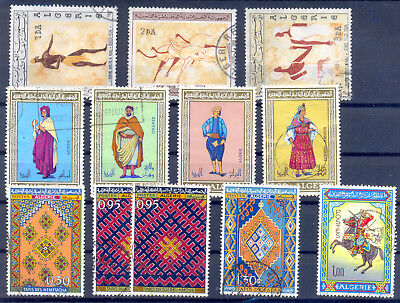 Algeria 1966/1971 Lot Of 12 Used Stamps