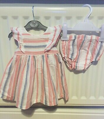 Baby girls 3-6 months Striped dress and pant set spring/summer/holidays