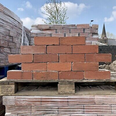 Red Reclaimed Bricks Vintage Imperial House  Brick Handmade - CLEANED & READY
