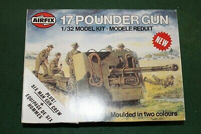 Airfix 1.32 17 Pounder Anti Tank Gun - Plus Six Man Crew Series 6 - 06361-0