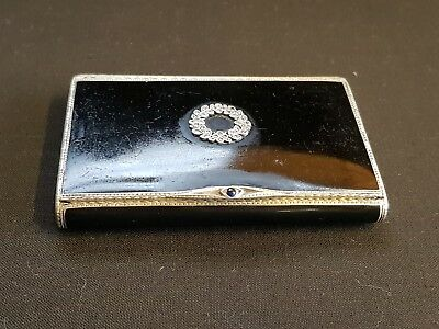 Superb solid silver and enamel card case, 1926.