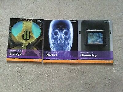 Bundle of revision guides, chemistry, biology and physics. Edexcel Gcse (9-1)